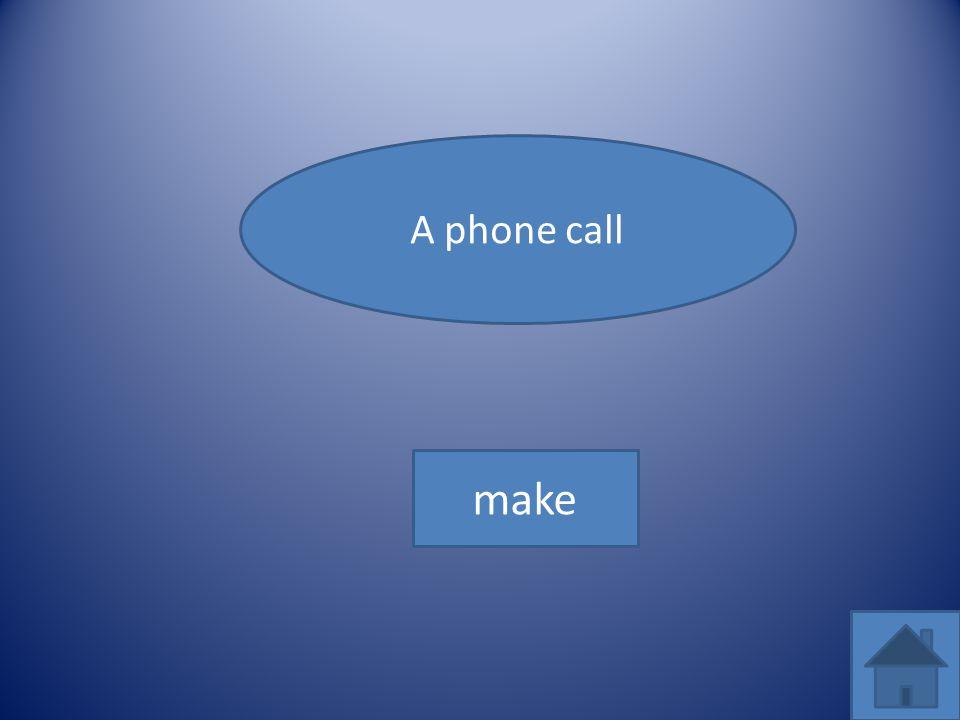 A phone call make