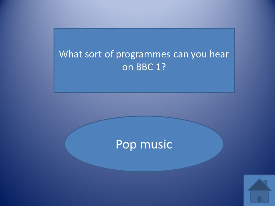 What sort of programmes can you hear on BBC 1