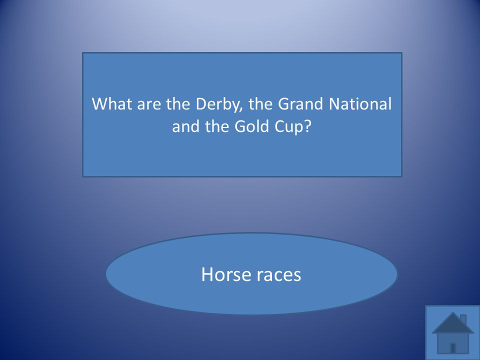 What are the Derby, the Grand National and the Gold Cup