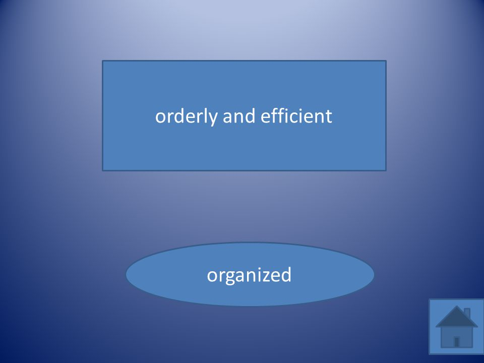 orderly and efficient organized