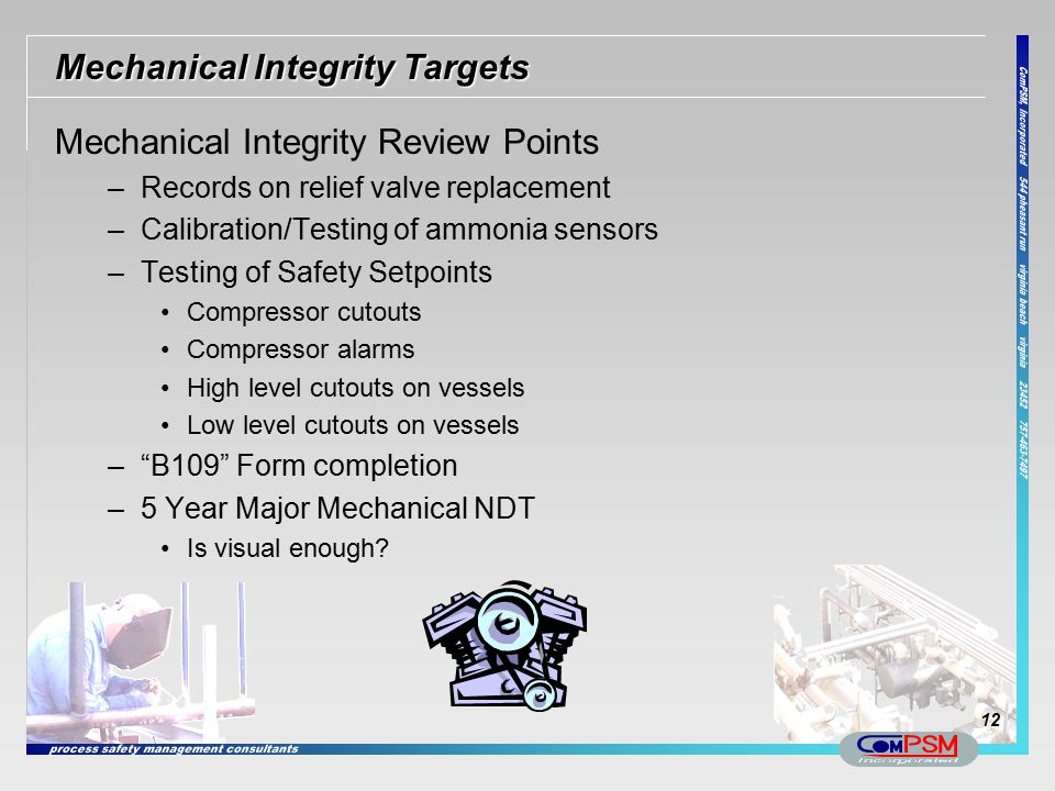 Mechanical Integrity Targets