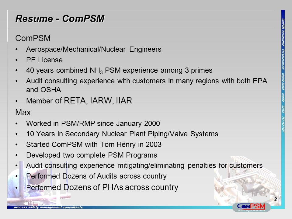 Resume - ComPSM ComPSM Max Aerospace/Mechanical/Nuclear Engineers