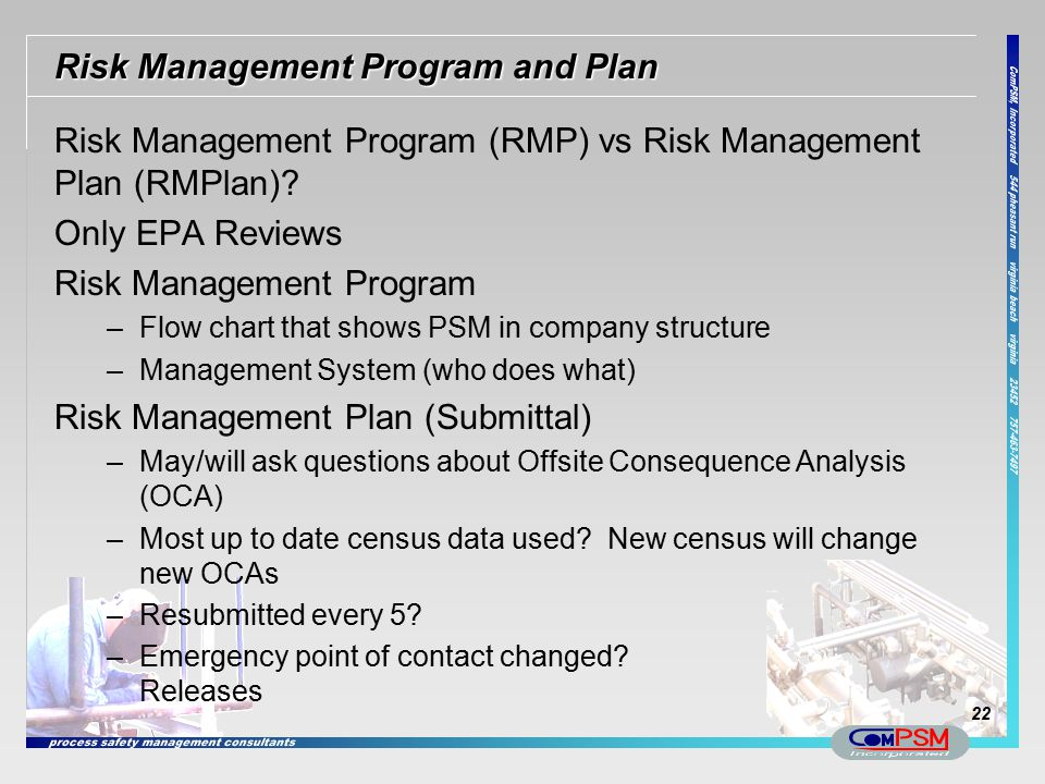 Risk Management Program and Plan