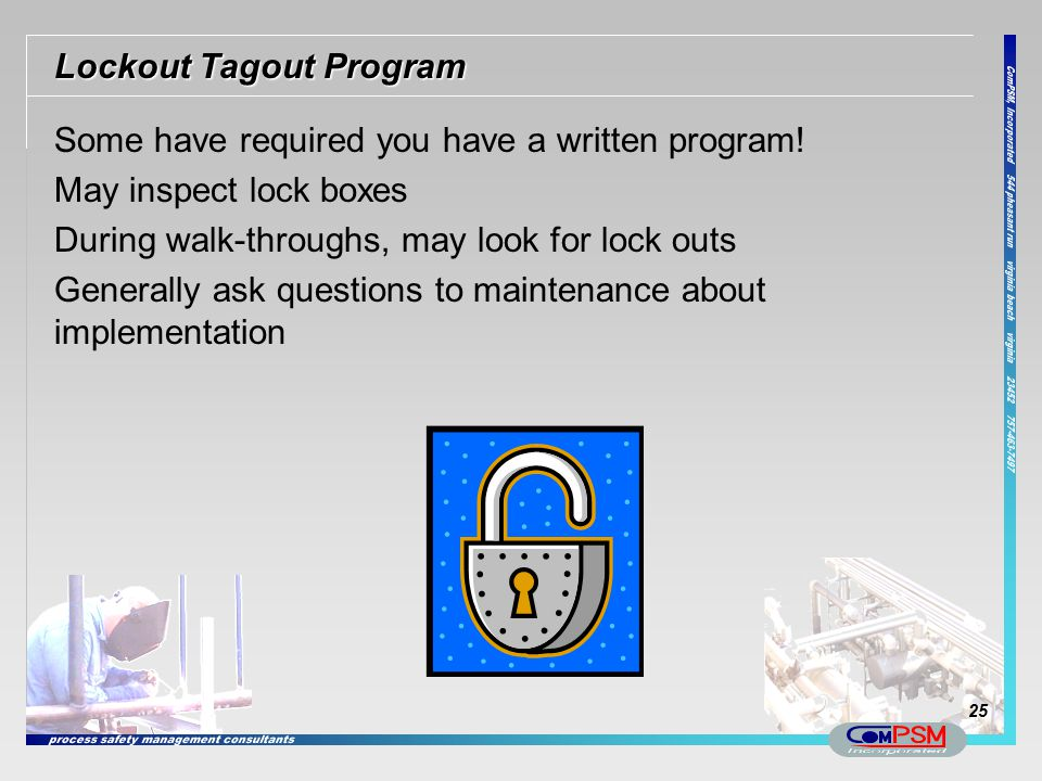 Lockout Tagout Program