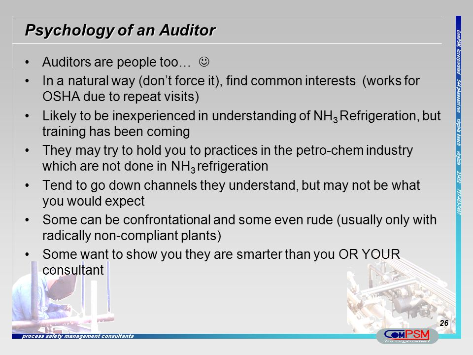 Psychology of an Auditor