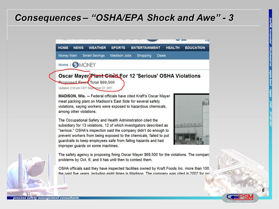 Consequences – OSHA/EPA Shock and Awe - 3