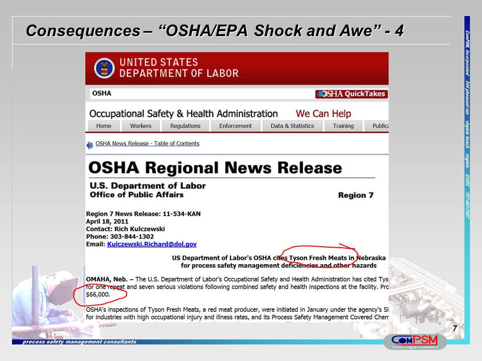 Consequences – OSHA/EPA Shock and Awe - 4