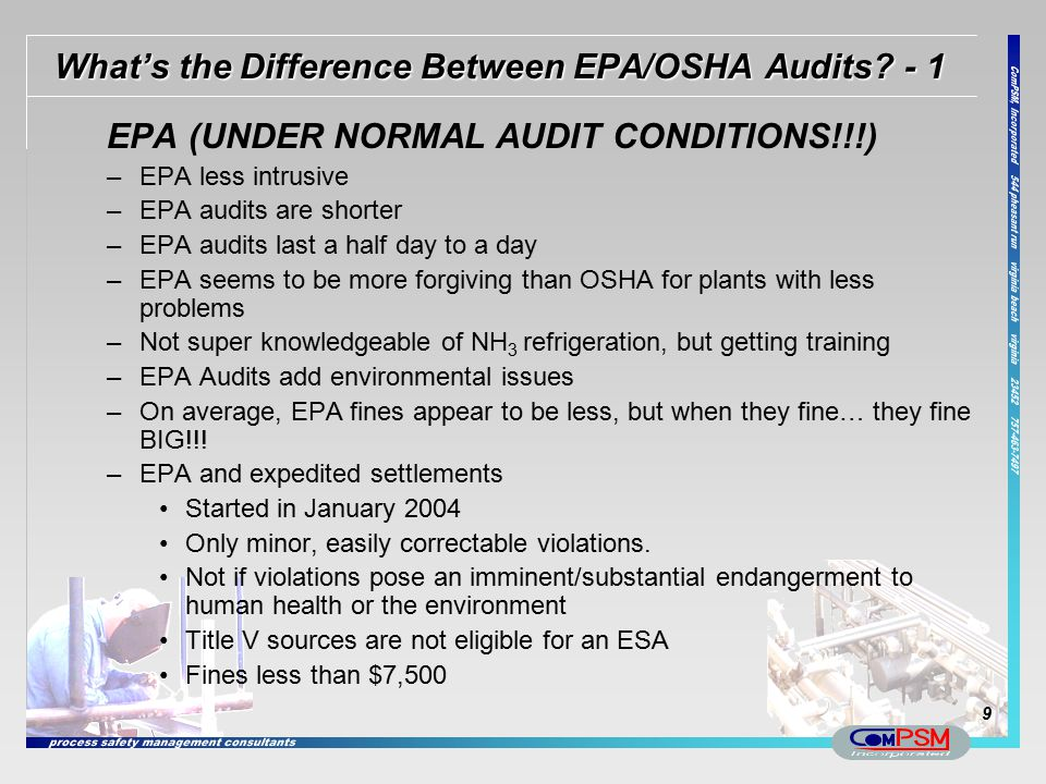 What's the Difference Between EPA/OSHA Audits - 1
