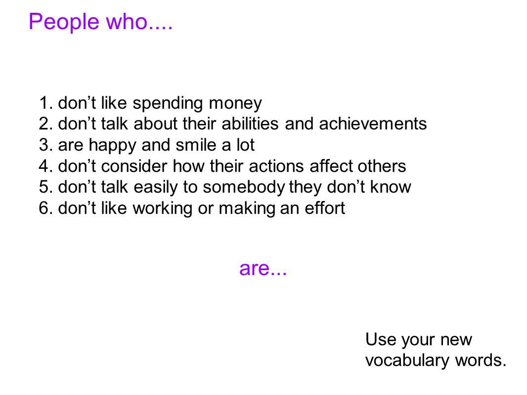 People who....