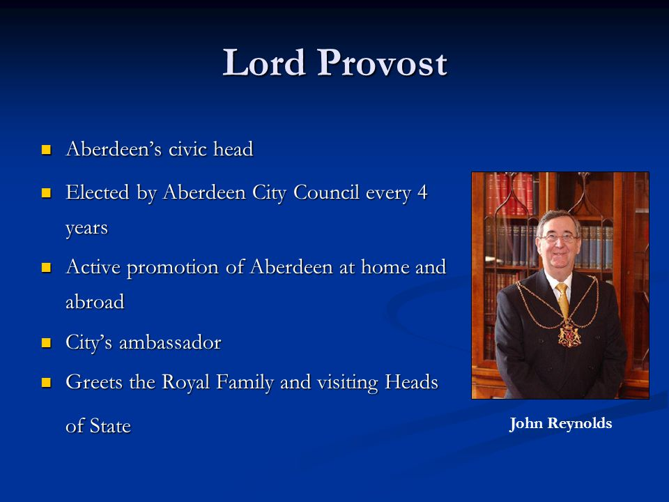 Lord Provost Aberdeen's civic head