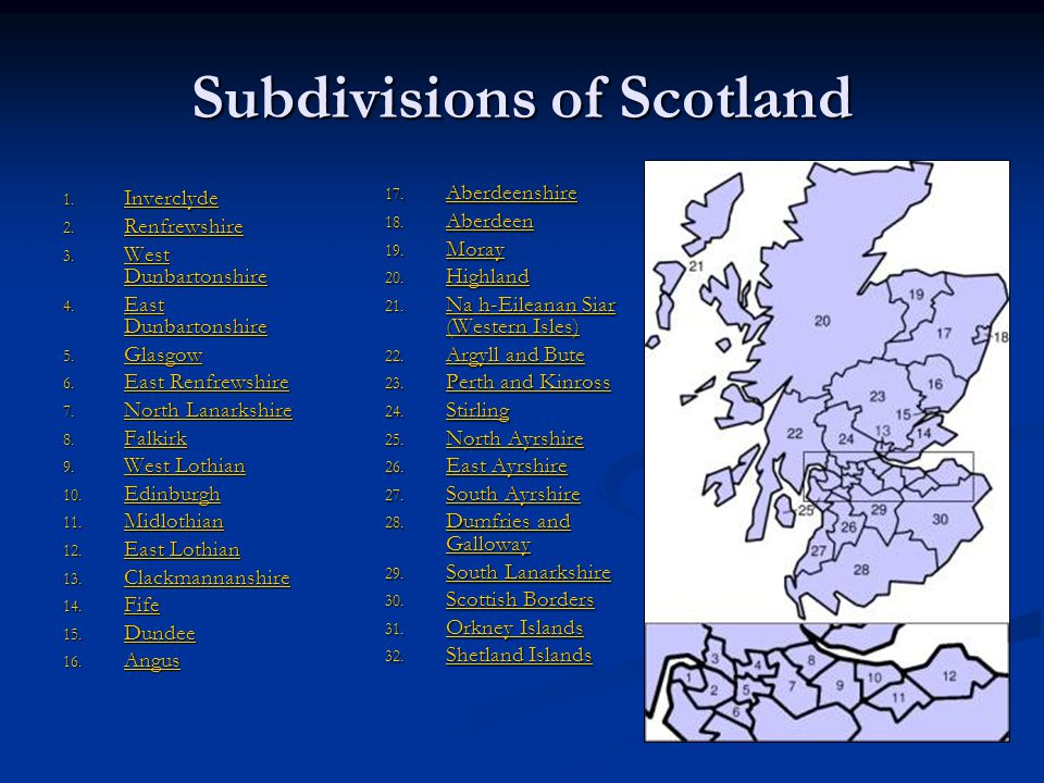Subdivisions of Scotland