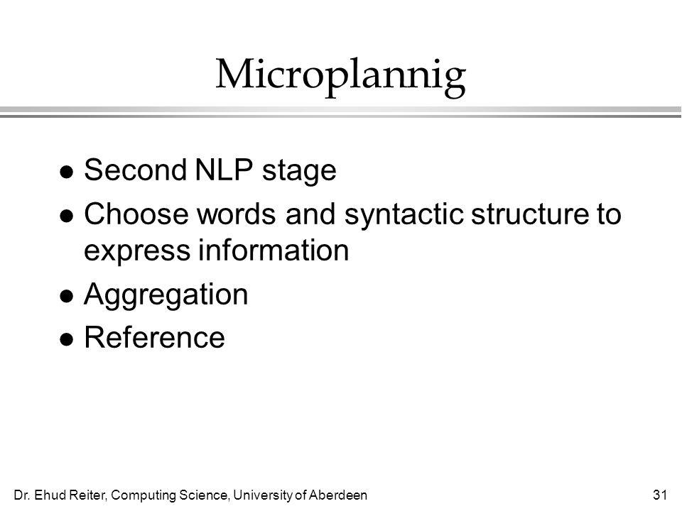 Microplannig Second NLP stage