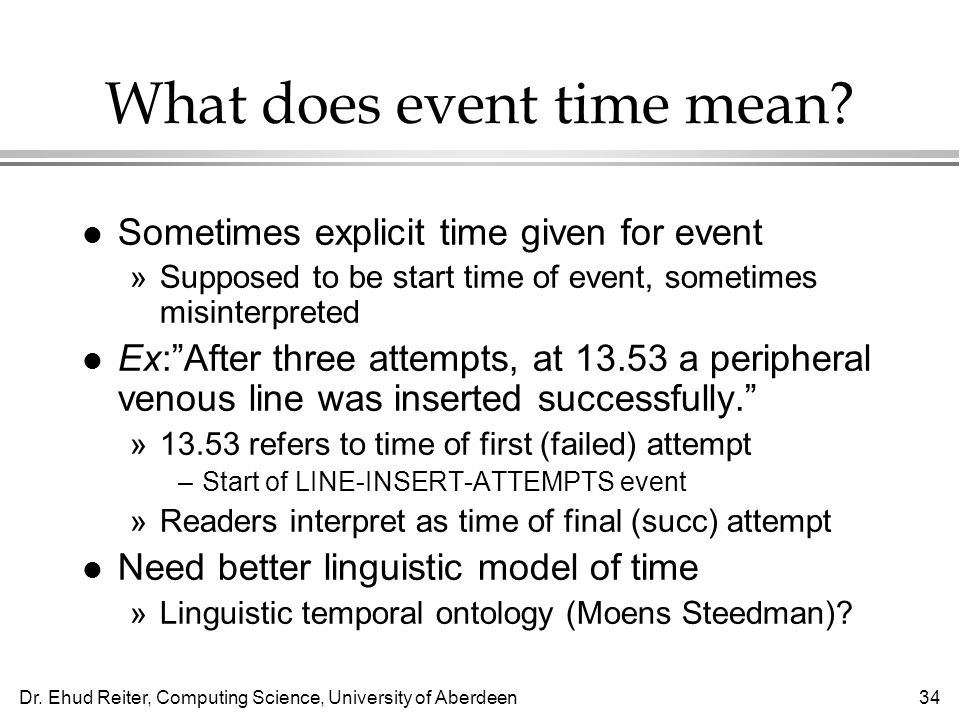 What does event time mean
