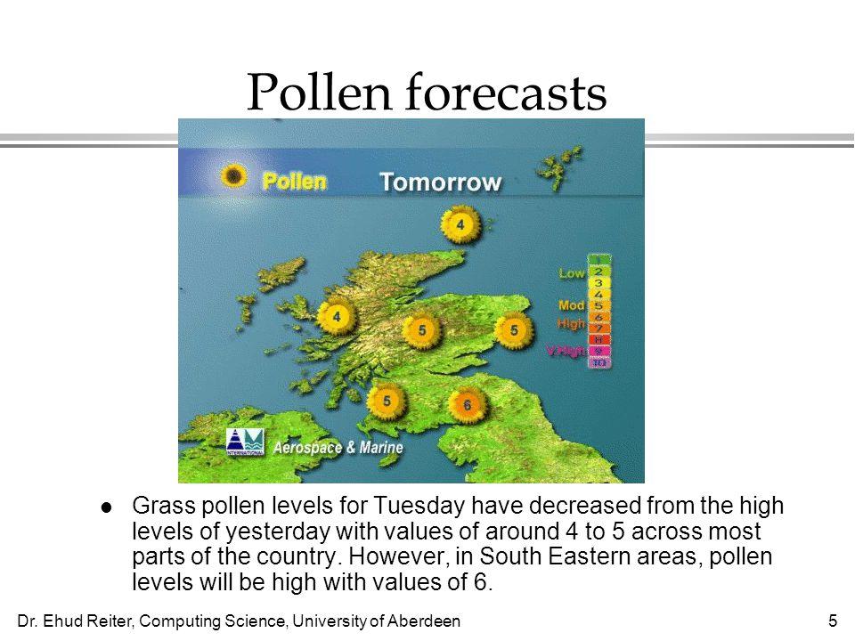 Pollen forecasts