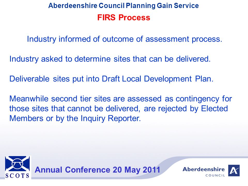 Industry informed of outcome of assessment process.