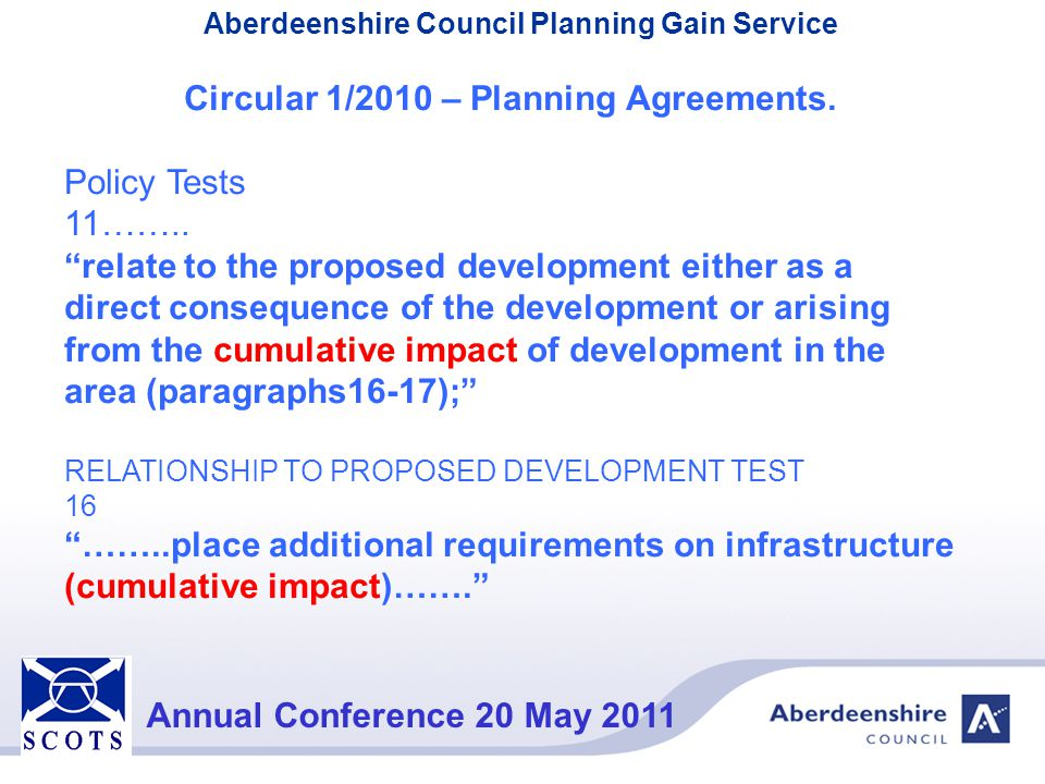 Circular 1/2010 – Planning Agreements.