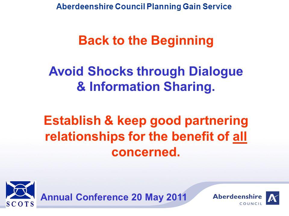Avoid Shocks through Dialogue & Information Sharing.