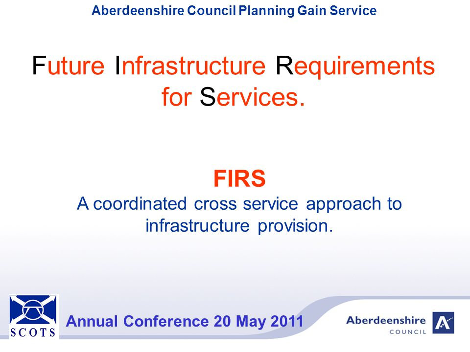 Future Infrastructure Requirements for Services.
