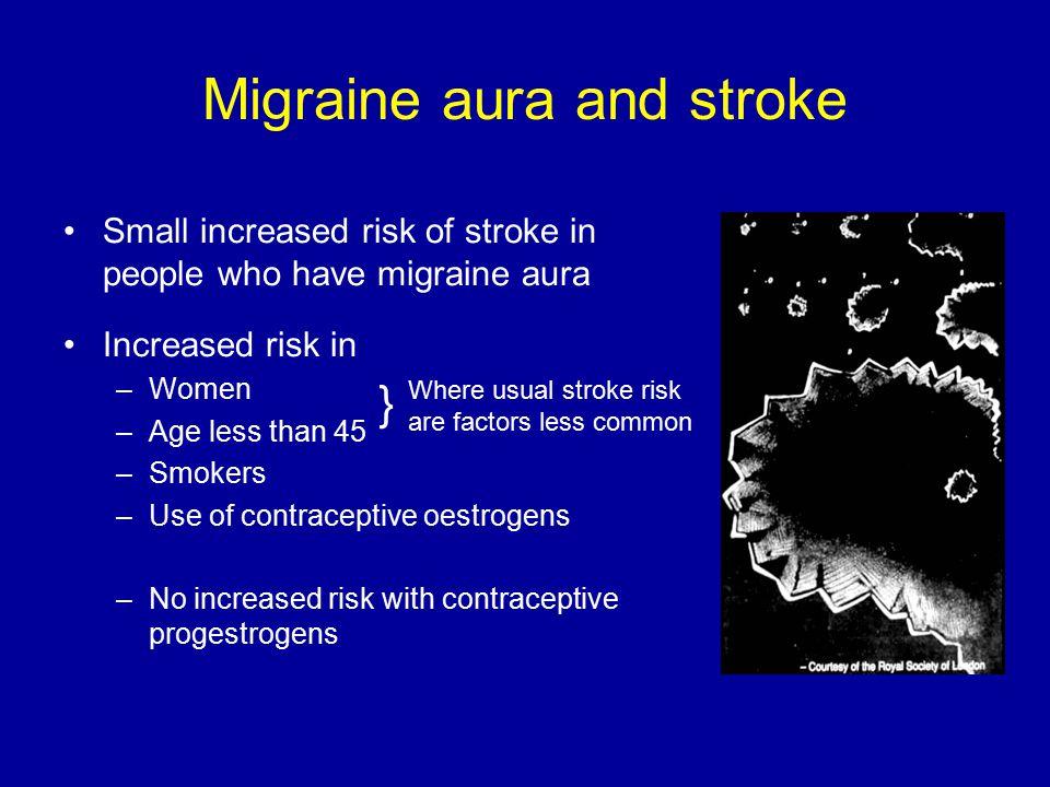 Migraine aura and stroke