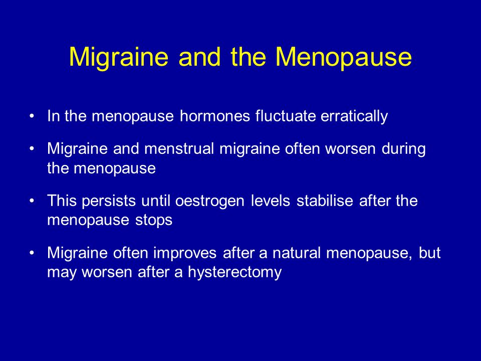 Migraine and the Menopause