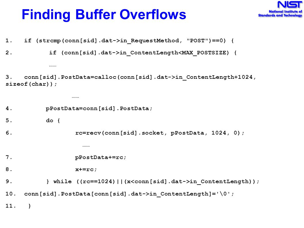 Finding Buffer Overflows