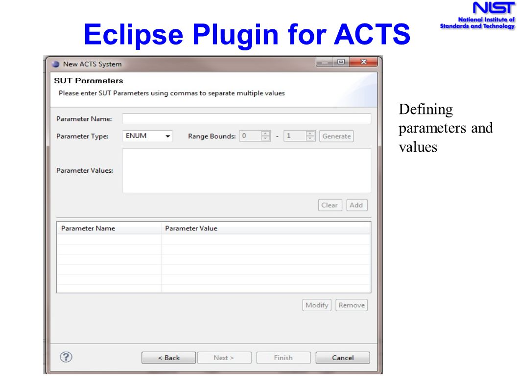 Eclipse Plugin for ACTS