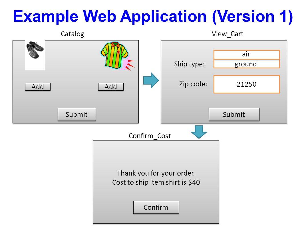Example Web Application (Version 1)