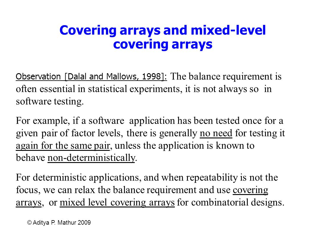Covering arrays and mixed-level covering arrays