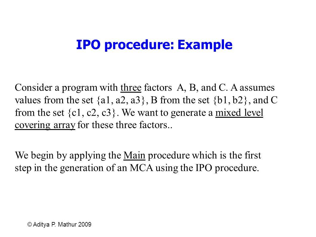 IPO procedure: Example