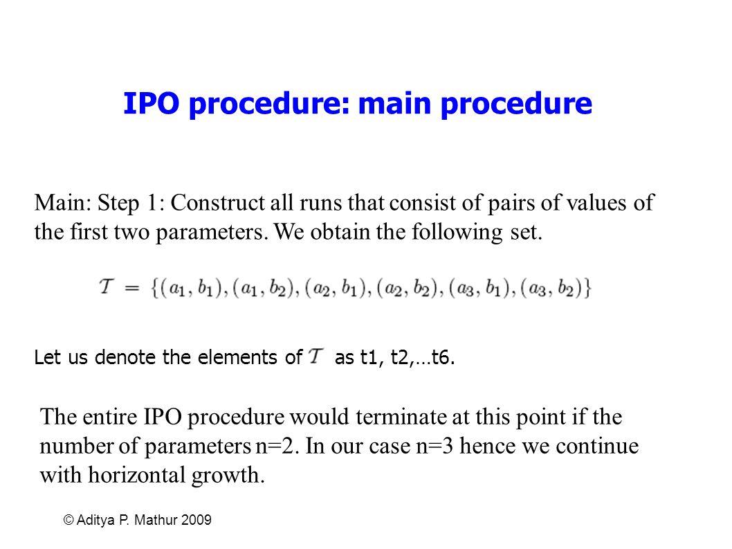 IPO procedure: main procedure
