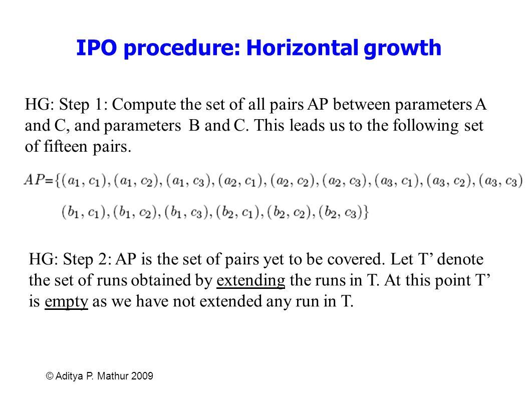 IPO procedure: Horizontal growth