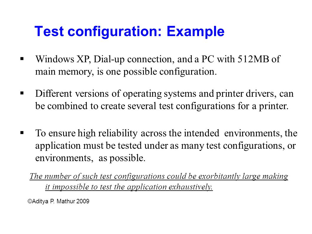 Test configuration: Example
