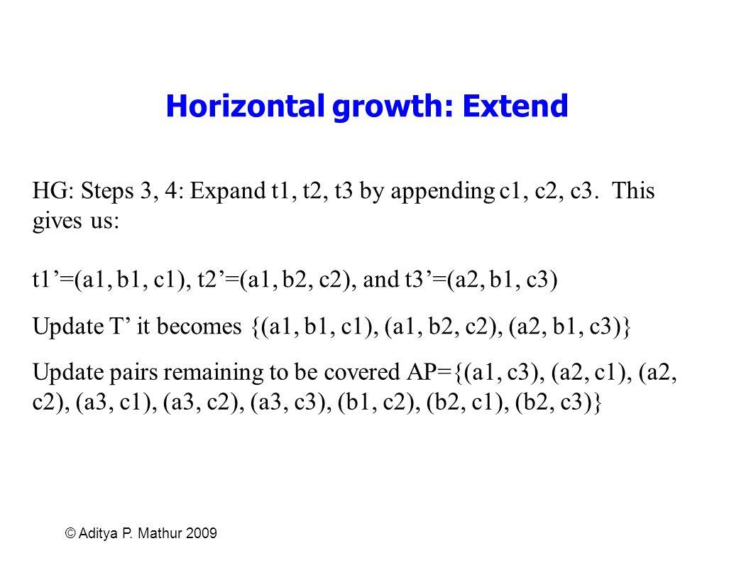 Horizontal growth: Extend