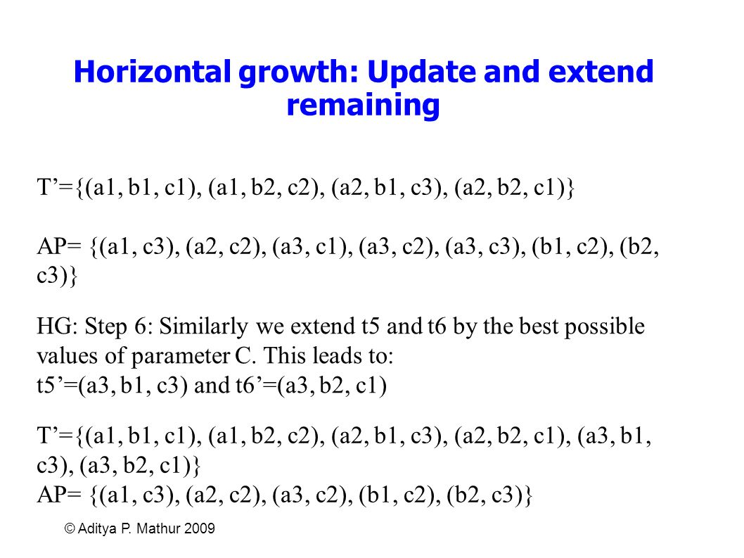 Horizontal growth: Update and extend remaining