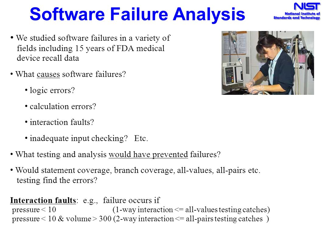 Software Failure Analysis