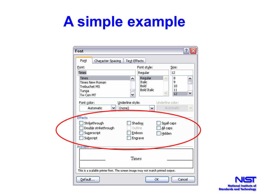 A simple example