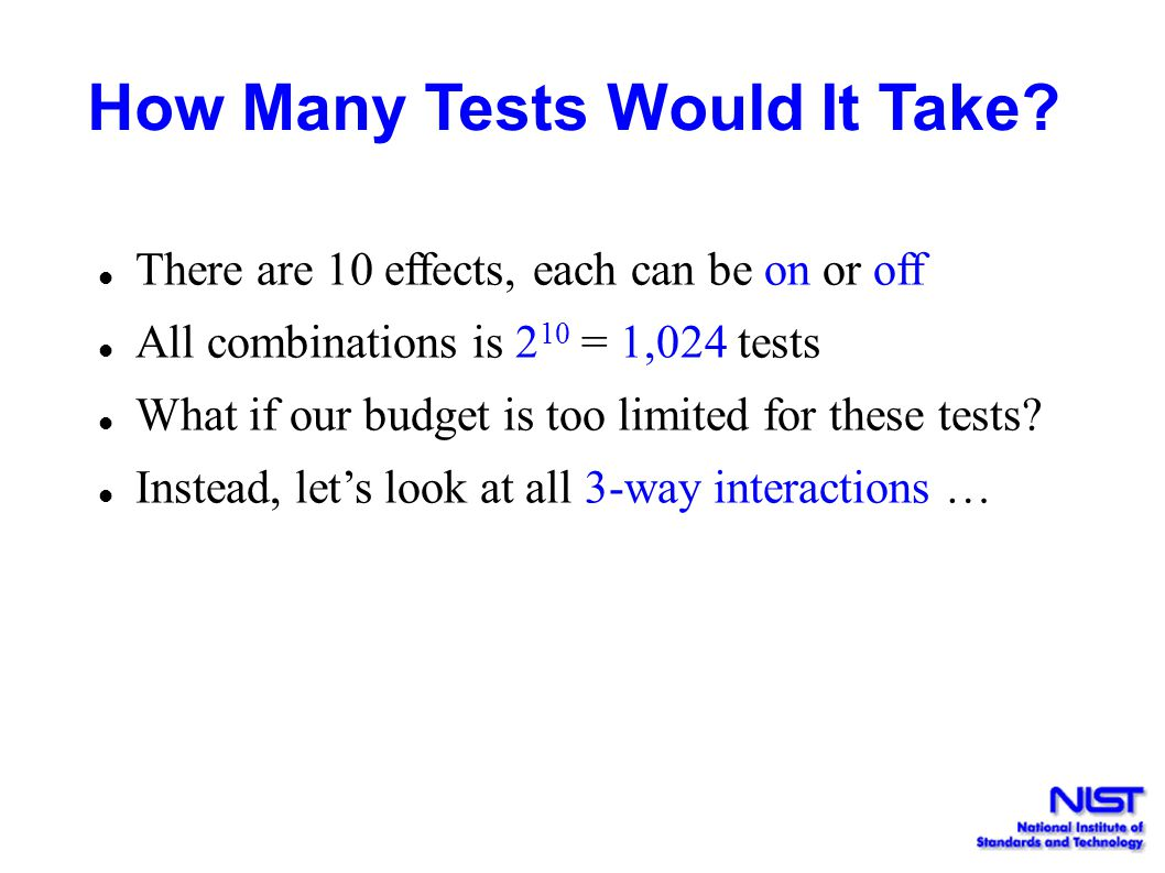 How Many Tests Would It Take