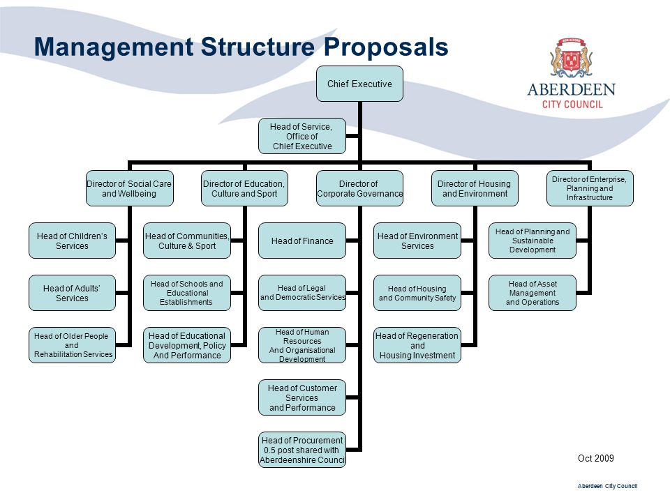 Management Structure Proposals