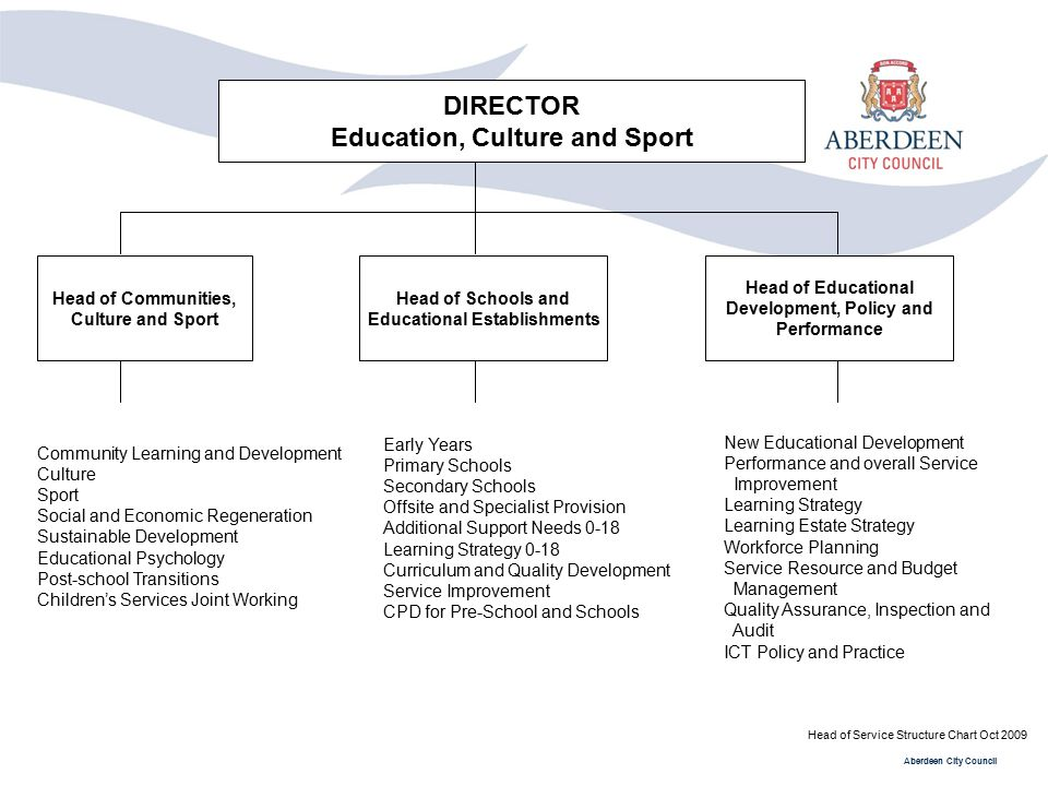 DIRECTOR Education, Culture and Sport