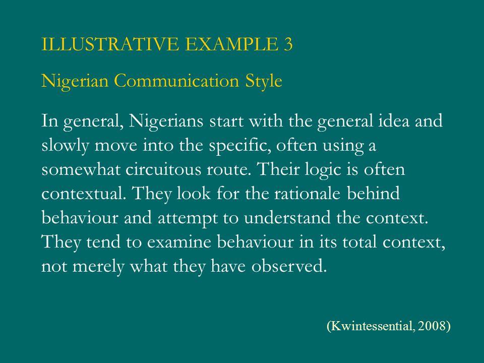 Nigerian Communication Style