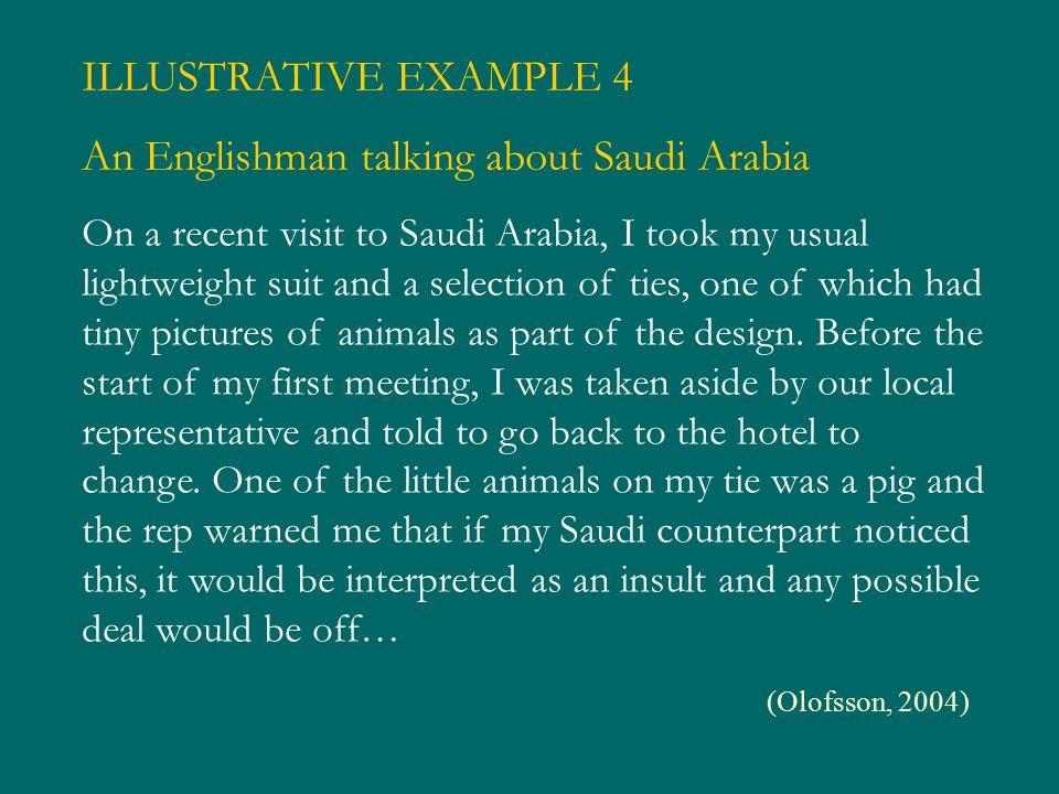 An Englishman talking about Saudi Arabia