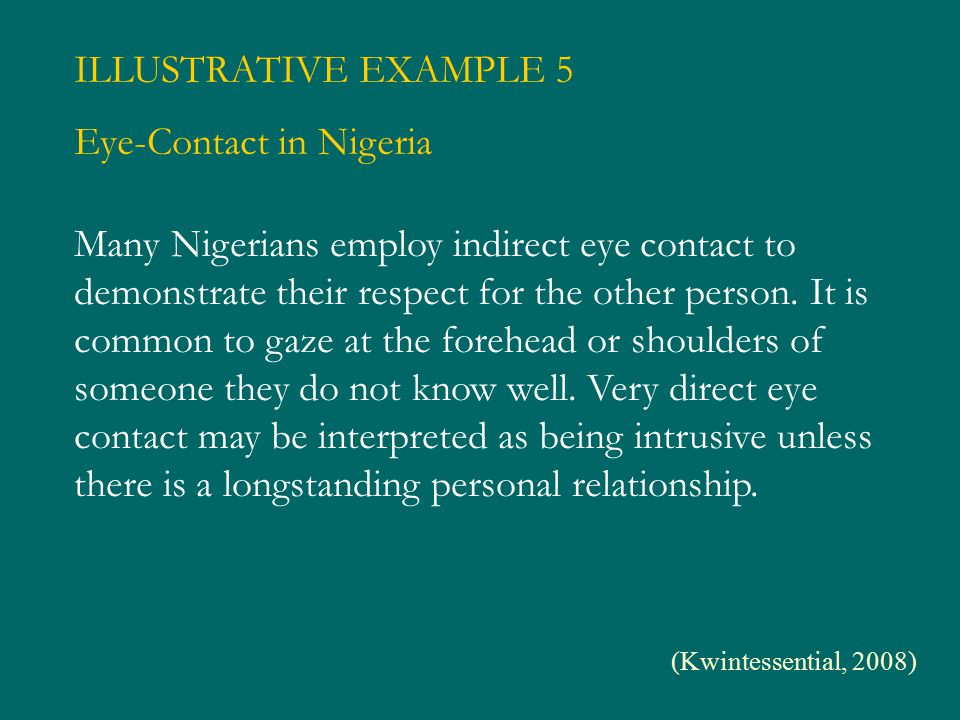Eye-Contact in Nigeria