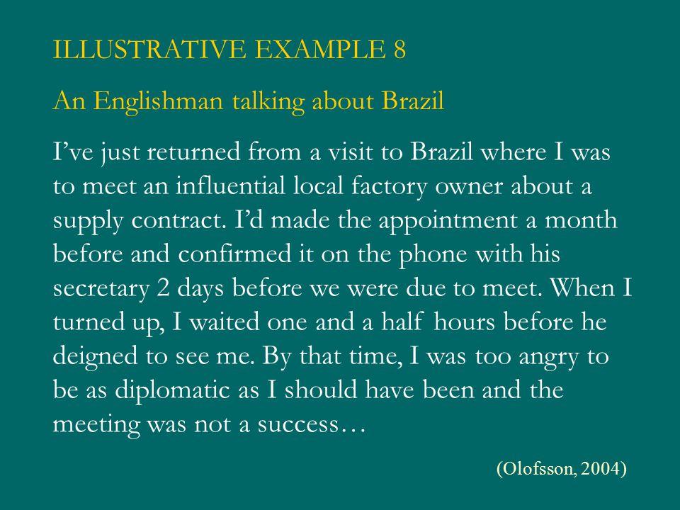 An Englishman talking about Brazil