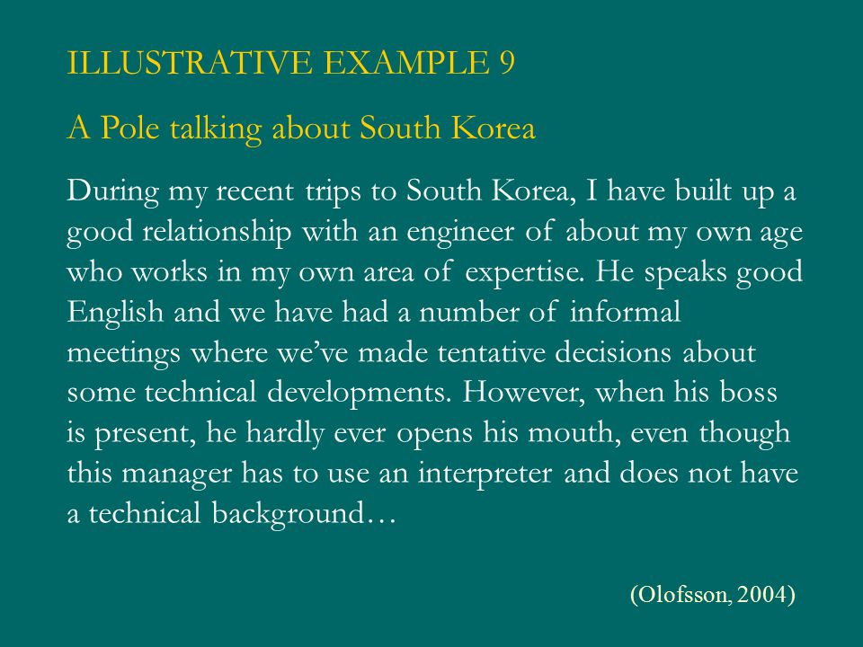 A Pole talking about South Korea