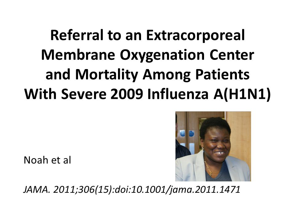 Referral to an Extracorporeal Membrane Oxygenation Center and Mortality Among Patients With Severe 2009 Influenza A(H1N1)