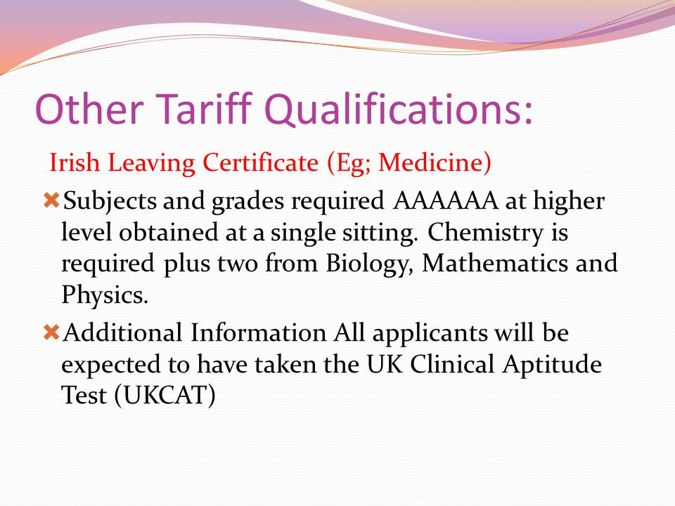 Other Tariff Qualifications: