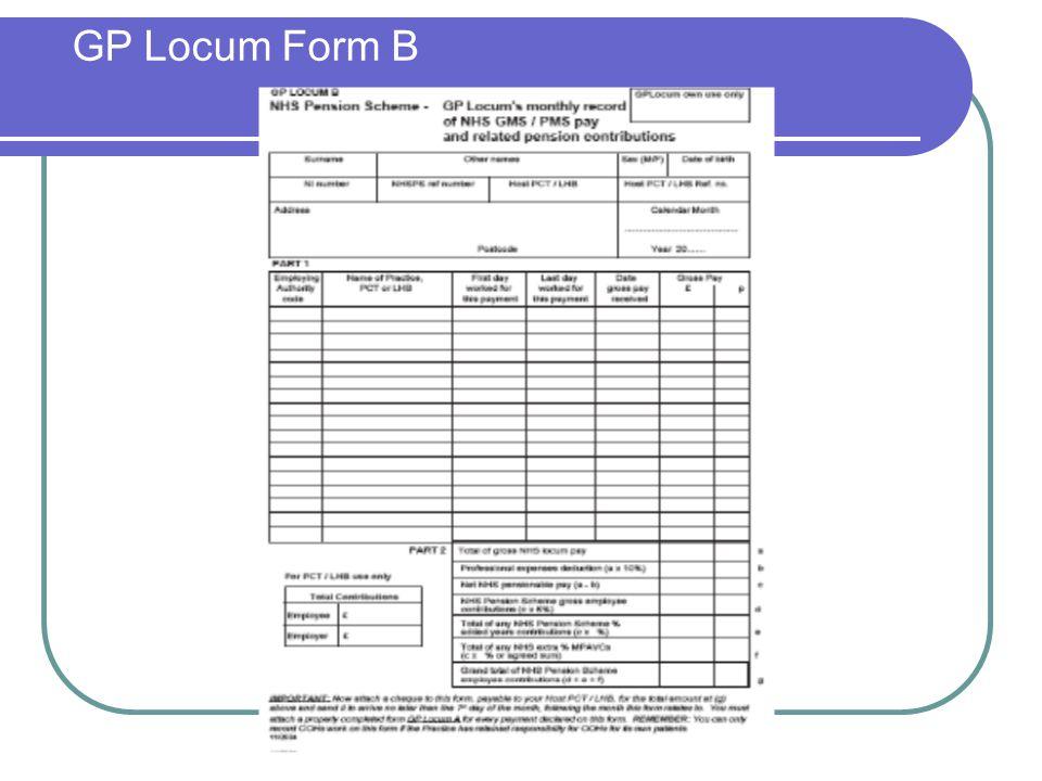 GP Locum Form B