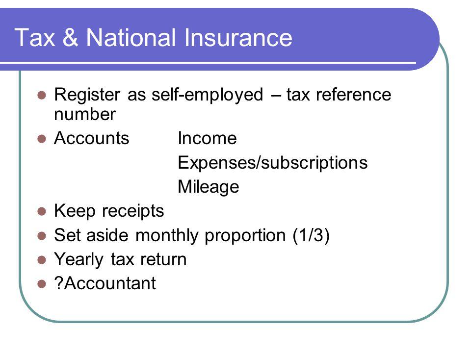 Tax & National Insurance