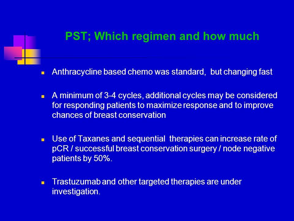 PST; Which regimen and how much