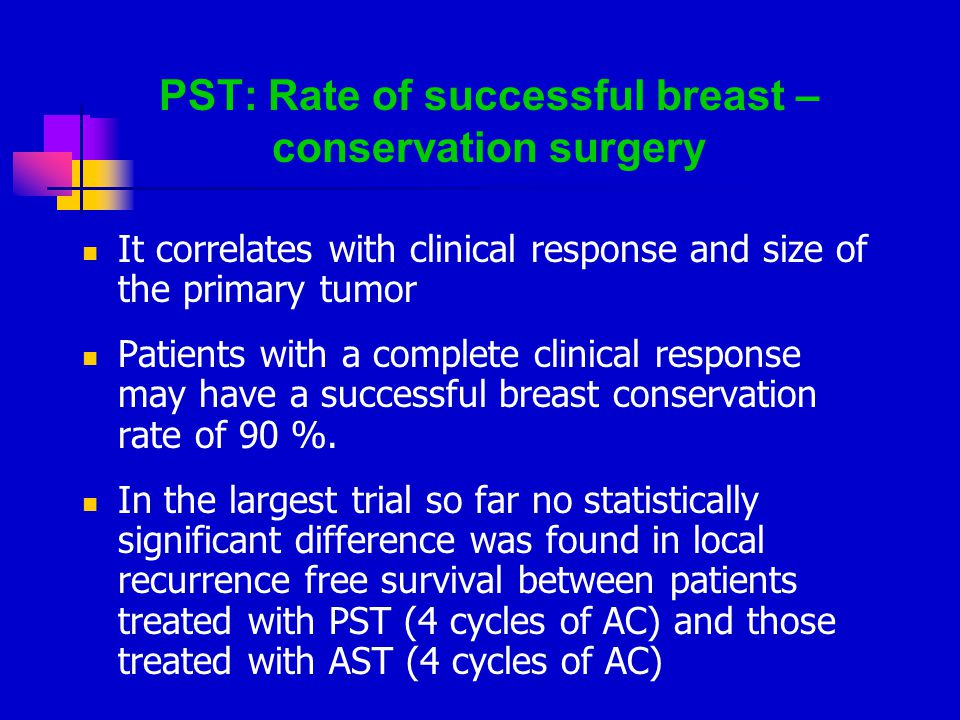 PST: Rate of successful breast –conservation surgery